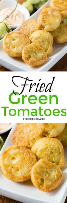 Fried Green Tomatoes by Noshing With The Nolands are a quintessential Southern dish anyone can enjoy. Serve them up for a delectable breakfast, brunch or dinner!