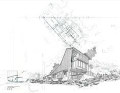 Round Mountain House by Roberto Carlos Ramírez, via Behance