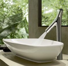 2017 Design Trends: Interesting Faucets with Organic Shapes -- New Hansgrohe 'Axor Starck Organic' faucet collection by Philippe Stark Philippe Starck, Piano Design, Axor Starck, Undermount Stainless Steel Sink, Undermount Sink, Mixer Shower, Bathroom Tile Designs, Bathroom Ideas, Duravit
