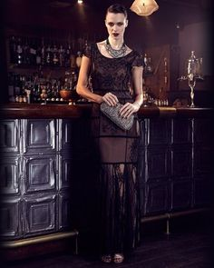 Phase Eight Petra Lace Beaded Maxi Dress
