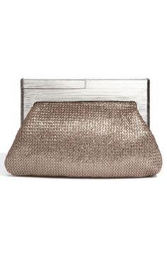 e225baf2b03 wodden handled clutch - better metallic color than silver