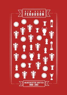 An illustration commemorating the reign of Sir Alex Ferguson as manager of Manchester United. Sir Alex Ferguson retired as Manchester United's manager after 26 years at the club in This. Manchester United Transfer News, Manchester United Wallpaper, Manchester United Legends, Manchester United Players, Man Utd Fc, Sir Alex Ferguson, Unique Poster, Old Trafford, European Football