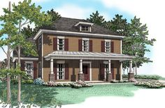 Charming 3 bedroom colonial.  Colonial House Plan # 461074