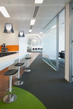 The Office Interior for the new offices of MSD at 2 Pancras Square in London This was an 8 week office design and fit-out project over 9,000 sq ft.