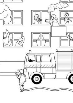 Cami 243 N De Bomberos Playmobil Para Colorear En Playmyplanet