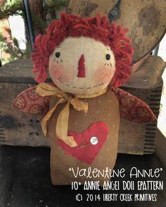 Primitive Valentine Annie Epattern Instant by libertycreek on Etsy
