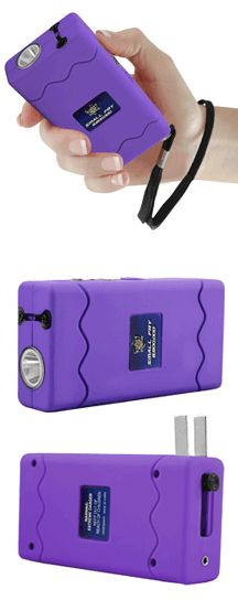Our Newest Small Fry Is Purple And With 8.8 Million Volts!  The Small Fry 8.8 Million Volt Stun Gun is perfect for women's self defense because it includes 8.8 million volts, without kickback and other incredible features!