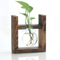 GBP - Vintage Hanging Glass Flower Vase Hydroponic Container Tabletop Ornaments A & Garden Glass Flower Vases, Clear Glass Vases, Flower Pots, House Plants Decor, Plant Decor, Home Flower Arrangements, Terrarium Containers, Heat Resistant Glass, Diy Plant Stand