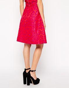 Image 2 ofSister Jane Midi Skirt in Pink Animal Print