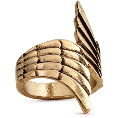 H&M Wing-shaped ring ($4.63) ❤ liked on Polyvore featuring jewelry, rings, accessories, gold, wing ring, h&m jewelry, h&m rings, h&m and wing jewelry