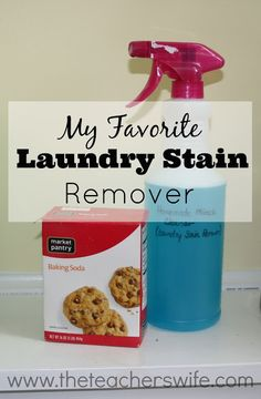 This simple recipe works wonders on set-in stains and only has 3 ingredient. After trying this, you will never need another stain remover.