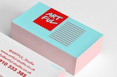 Business Card Inspiration #bright #colours #standout #contrasts #art #design #cool #impressive