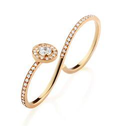 Two Finger Diamond Eternity Ring