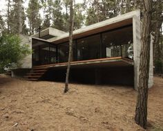 A Severe Concrete House Set in the Woods - I love concrete homes.