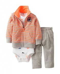 Carter's Baby Set, Baby Boys Cardigan, Bodysuit and Pants, newborn Carters Baby Clothes, Carters Baby Boys, Toddler Boys, Toddler Stuff, Outfits Niños, Baby Boy Outfits, Kids Outfits, Little Boy Fashion, Kids Fashion