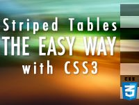 Striped Tables The Easy Way using CSS3