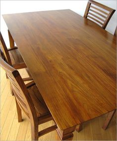 無垢 ダイニングテーブル チーク (1)