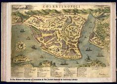 Map of Istanbul, 1573, Simon Pinargenti