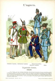 The Hungarian revolution of 1848 and The revolutions of Europe Austrian Empire, French Revolution, Napoleonic Wars, Toy Soldiers, World War I, Military History, Warfare, 19th Century, Old Things