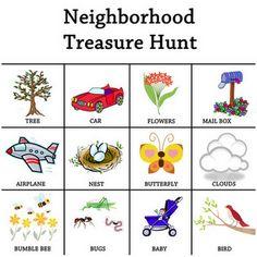 Neighborhood treasure hunt and other fun kids activities