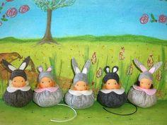 Susannelfes Blumenkinder für den Jahreszeitentisch: Maus am Montag , Teil 29 ♥