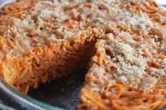 Spaghetti Pie cooked in a Wonder Oven | My Food Storage Cookbook