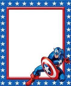 12 Mejores Imágenes De Invitaciones Capitan America