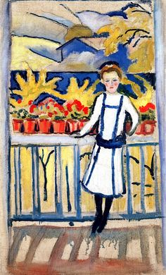 August Macke, Girl on a Balcony I, Tegernsee, 1910