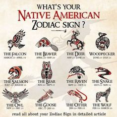 Native American Zodiac & Astrology   Birth Signs & Totems