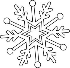 Dessin flocon de neige