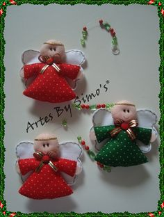 Mobile anjinhos by Artes by Simo's®, via Flickr Crochet Christmas Trees, Christmas Applique, Christmas Sewing, Felt Christmas, Christmas Angels, Christmas Makes, Angel Crafts, Felt Crafts, Christmas Crafts