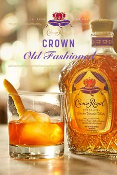 Discover the superior quality of Crown Royal Canadian whisky. Learn about our history, explore drink recipes and more. Mixed Drinks, Fun Drinks, Beverages, Cocktail Recipes, Cocktails, Crown Royal Drinks, Mead Recipe, Orange Twist, Good Whiskey