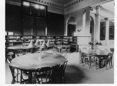 Springfield, IL. Old Lincoln Library reading room. Courtesy of Springfield Rewind and Sangamon Valley Archives.