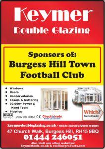 Keymer Double Glazing sponsors Burgess Hill Town FC | Keymer Double Glazing