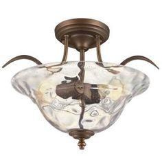 Hampton Bay, Grace Rubbed Bronze Semi-Flush Mount, 14692 at The Home Depot - Tablet Entryway Lighting, Dining Room Lighting, Cool Lighting, Edison Lighting, Lighting Ideas, Bronze Chandelier, 5 Light Chandelier, Ceiling Light Fixtures, Ceiling Lights