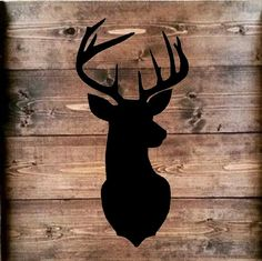 Deer silhouette Stencil 18x11.5 by vinylexpress on Etsy