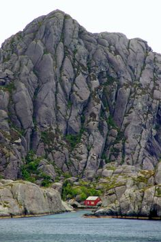 Norwegian landscape - the tiny red house really puts the size & magnitude into perspetive