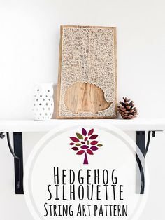 This is a modern hedgehog silhouette minimalist string art pattern digital download 6.5x10.5 (16.51x26.67cm). Minimal wood base size: 7x11 (17.8x27.9 cm)  If you are interested in the finished product, it can be found here: https://www.etsy.com/listing/563802317/  Making modern nail and