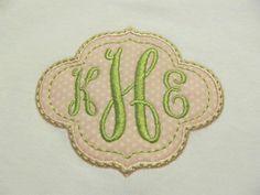 Preppy Monogram Frame Tee or Onsie by SouthernHandsLLC on Etsy, $18.00