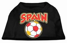 Mirage Pet Products Spain Soccer Screen Print Shirt Black 6x * More info could be found at the image url.(This is an Amazon affiliate link and I receive a commission for the sales)