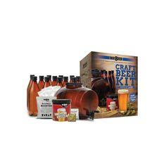 Mr. Beer American Lager Homebrewing Craft Beer Kit, Multicolor