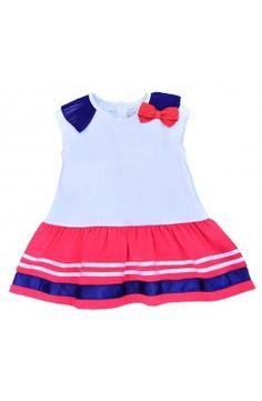 Vestido Mayoral bebé chica tricolor estilo marinero