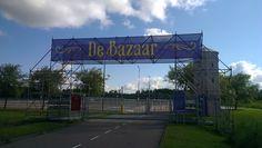 Reclamedoek voor de Beverwijkse Bazaar.