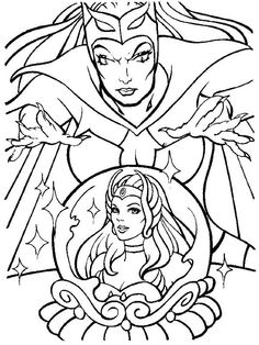 Image detail for -coloring page with unique she ra art coloring page with she ra and he ...