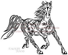 flower horse hmmm tattoos