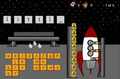 Rocket Fuel - Make Your Own Template: A hangman type activity for high frequency words.