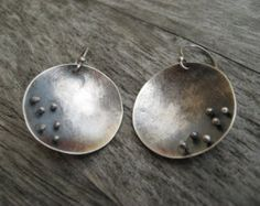 Sterling silver forged fringe earrings by LisaColbyMetalsmith