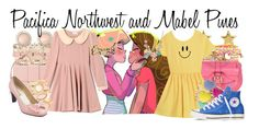 """Pacifica Northwest and Mabel Pines"" by ginger-coloured ❤ liked on Polyvore featuring Pacifica, White House Black Market, Ettika, RED Valentino, SonyaRenée, Charlotte Russe, Jimmy Choo, 59th Street, Monsoon and Betsey Johnson"