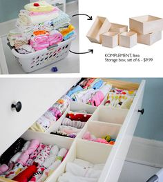 Drawer organization from ikea