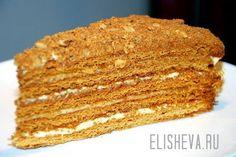 Быстрый торт Медовик из наливного (жидкого теста). Простой рецепт